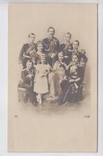 AK Preussen, Kaiser Wilhelm II mit Familie, Foto-AK 1900