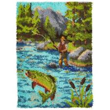 Herrschners Fly Fishing Latch Hook Kit
