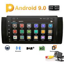 """9"""" Android 9.0 Car GPS NAV NO DVD Radio 1080P DAB+ For BMW E39 E53 X5 2000-2007"""