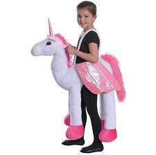 EQUITAZIONE UNICORNO bambini passo in costume per Fancy Dress Party