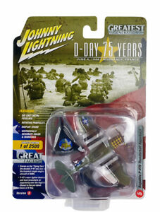 Johnny Lightning D-Day Republic P-47D Thunderbolt Razorback DieCast Plane