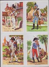 PLANCHE 4 IMAGES HISTOIRE-UNIFORME D'EPOQUE ARMEE-GRENADIER-HUSSARD-INFANTERIE