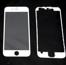 "Pantalla de Cristal Iphone 6s 4,7""  BLANCO  + Marco adhesivo"