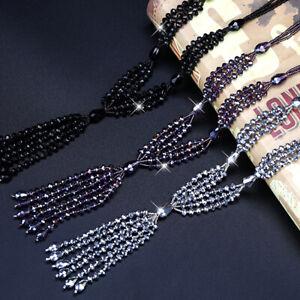 Fashion Womens Girls Long Heart Pendant Tassel Necklace Women Chain T3