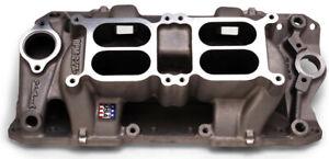 Engine Intake Manifold-RPM Air-Gap Dual-Quad Intake Manifold Edelbrock 7525