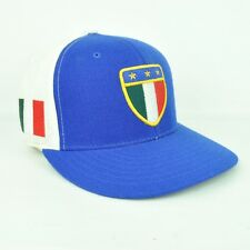 American Needle Italy Flag White Royal Blue Fitted 7 1/8 Hat Cap Flat Bill