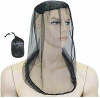 Yellowstone Mosquito and Midge Bug Micro Head Net Protector for Face Head