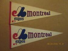 MLB Montreal Expos Vintage Lot of 2 Circa 1980's Style#2 Logo Baseball Pennants