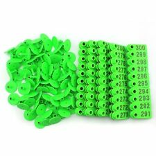 201 300 Green Number Plastic Livestock Ear Tags Animal Tag For Goat Sheep Pigs