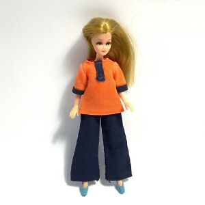 Vintage 1970's Palitoy Pippa Doll 1st Edition Clothes Blue Trousers Orange Top
