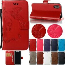 Flip Leather Wallet Card Stand Case Cover For iPhone Huawei Samsung Galaxy Phone