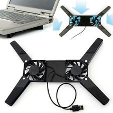 2Fans Foldable Laptop Cooling Cooler Pad Stand USB Powered For Laptop Macbook