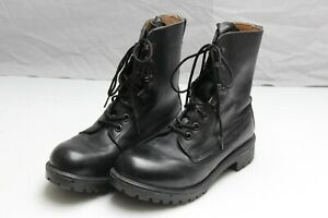 Gortex Military Police Black Leather Boots size 7 M Rubber Sole (7B)