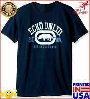 Ecko Unltd Mens The Rhino Remains Short Sleeve Navy T-shirt Regular Size S-5XL