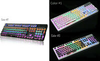 LED 6-themed backlights 104 Standard Keys Metal Mechanical Computer Gaming USB