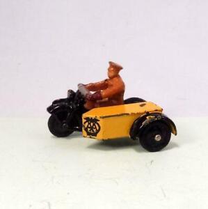 VINTAGE DINKY 44b AA MOTOR CYCLE PATROL 1946 - 1955 - Britains Era