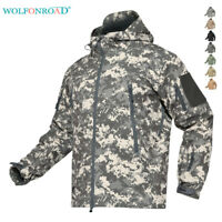 Waterproof Mens Military Jackets Tactical Soft Shell Coat Army Windproof Outwear