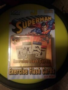 Superman Exercise Flash Cards for Kids (FitDeck) 50 Cards New