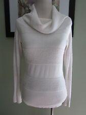 Bebe Sport White Turtleneck Sweater Top Size L