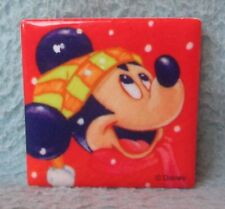 Disney Winter Mickey Mouse Tile Magnet, Souvenir, Travel, Refrigerator