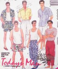 Mens Shirt Tank Top Shorts Pants Sewing Pattern Size L 42 44 McCalls Todays Man