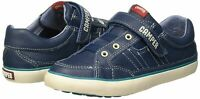 Camper boys leather shoes size uk 2.5 eu 35 Casual blue kids Trainers Snap