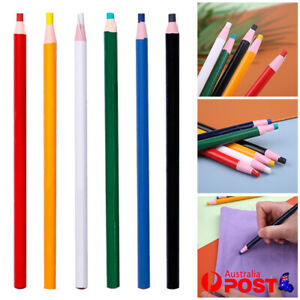 2~12x Cut free Sewing Tailors Chalk Pencils Fabric Marker Pen Garment Red Crafts