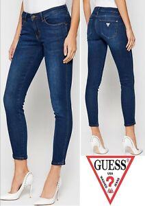 Guess Jeansy Dark Wash Curve X Skinny Mid Jeans (4661B)