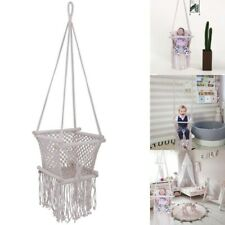 Baby Cradle Cot Hammock Hanging Chair Cotton Seat Rope Outdoor Swing Home Patio