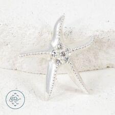 Silver Plated | Beach Star Fish CZ Slider 2.3g | Pendant KV2742