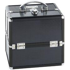 Beautify Small Black Professional Cosmetic Makeup Aluminium Case Vanity Box