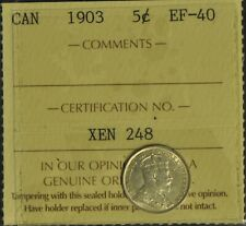 Canada 1903 5 Cent Piece - ICCS -- EF40 -