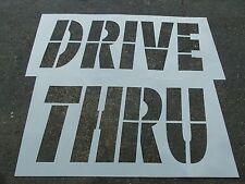 """34"""" McDonalds DRIVE THRU Stencil 1/16"""" Parking Lot Striping Road Marking Stencil"""