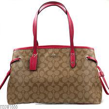 New COACH Signature Carryall Drawstring Satchel Shoulder Bag F57842 MSRP $350
