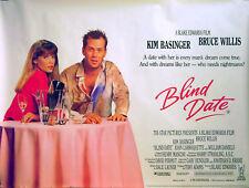 BLIND DATE 1987 Kim Basinger, Bruce Willis Blake Edwards UK QUAD POSTER