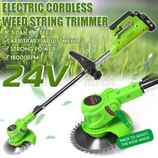 18000 RPM Electric Cordless Grass Trimmer Heavy Weed Garden Lawn Strimmer Cutter