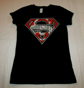 Ohio State Buckeyes Superman Style Women's Medium Black T-Shirt District