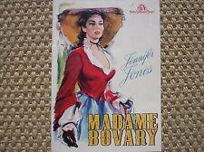 MADAME BOVARY JENNIFER JONES FILM CARTOLINA PROMO POSTCARD CARTE ADVERTISING