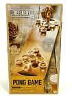 Brand New in Box REFINERY & Co. Wooden Beer Pong Game Foldable Tabletop WOOD