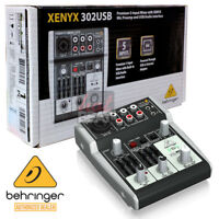 BEHRINGER XENYX 302USB 5-Channel Analog Mixer USB Audio Interface + Warranty