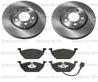 FOR VW POLO 1.0 MK6 FRONT BRAKE DISCS AND PADS SET 2017 ONWARDS 256MM QUALITY UK