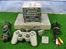 PLAYSTATION 1 AUDIOPHILE SCPH-1002 CONSOLE CONTROLLER + 6 x GAMES, MEM CARD *PS1