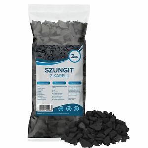 Wessper Schungit Rohsteine 2 kg, Wassersteine, Shungit Wasserenergetisierung