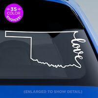 "Oklahoma State ""Love"" Decal - OK Love Car Vinyl Sticker add heart over any city!"