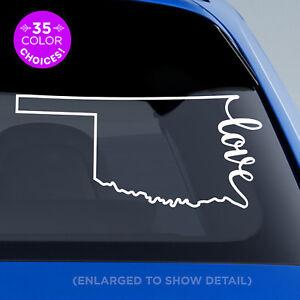 "Oklahoma State ""Love"" Decal - OK Love Car Vinyl Sticker add heart over any city!"