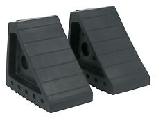 Sealey Rubber Wheel Chocks 2.2kg - Pair WC01