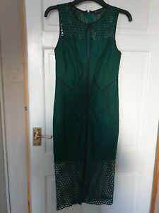 LADIES EMERALD GREEN BARDOT DRESS SIZE 10