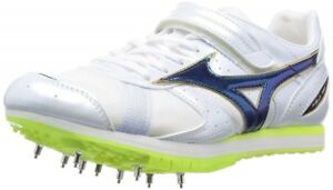 Mizuno Long Jump spike FIELD GEO AJ U1GA1541 White × Majestic Green