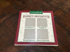 1996 Longaberger Commemorative Christmas Collection Pewter Basket Ornaments New