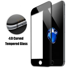 4D Full Cover Black Tempered Glass Screen Protector Fit  For iPhone 6Plus 6SPlus